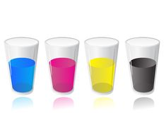 Cmyk of simple paint glass Stock Images