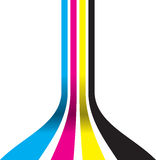Cmyk sliding down Stock Photography