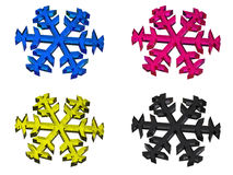 CMYK snowflake Stock Images