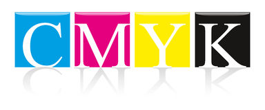 CMYK Solid Color. CMYK color swatches, solid colors Royalty Free Stock Photography