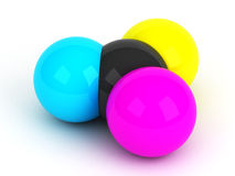 CMYK spheres Royalty Free Stock Images