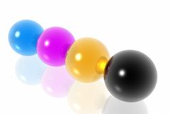 CMYK spheres Stock Images