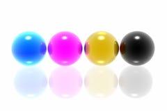 CMYK spheres Stock Photo