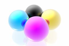 CMYK spheres Stock Photos