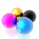 CMYK spheres Stock Photo