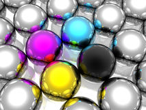 Free CMYK Spheres Royalty Free Stock Images - 7628199
