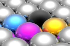 CMYK spheres Stock Image