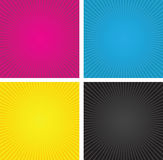 Cmyk spiral boxes Stock Image