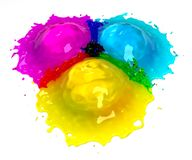 CMYK Splash Royalty Free Stock Photos