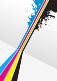 Cmyk splash Stock Images