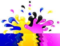 CMYK splash Royalty Free Stock Images