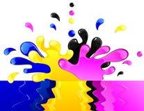 CMYK splash Royalty Free Stock Images