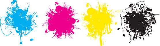 Cmyk splashes Royalty Free Stock Photo