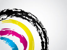 Cmyk splatter Royalty Free Stock Photography