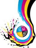 CMYK Spritzen Lizenzfreies Stockfoto
