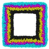 CMYK square frame Stock Image