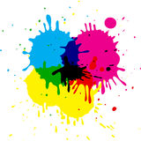 CMYK stains Stock Images