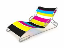 CMYK Staples Chaise Longue Royalty Free Stock Image