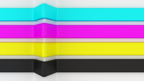 CMYK stripes Stock Photo