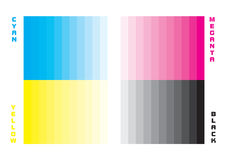 Cmyk swatch Royalty Free Stock Photos