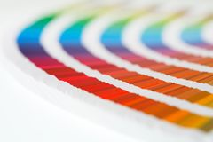CMYK Swatches Stock Photography