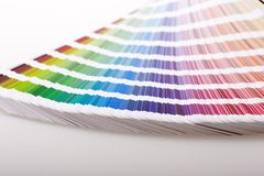 CMYK swatches stock images