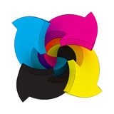 CMYK swirl Royalty Free Stock Image