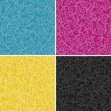 CMYK swirl pattern. Set of CMYK swirl pattern | vector illustration Royalty Free Stock Images