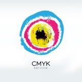 CMYK target logo concept Stock Image