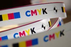Cmyk test printout mark royalty free stock image