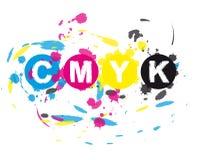 CMYK Tinte splat Lizenzfreies Stockbild