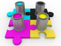 Cmyk tints puzzle Royalty Free Stock Photo