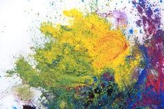 cmyk toner powder (cyan, magenta, yellow, black) Stock Photos