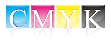 CMYK transparente Foto de Stock