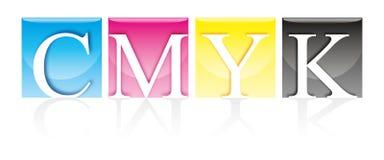 CMYK trasparente Fotografia Stock