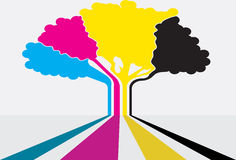 Cmyk tree Royalty Free Stock Photos