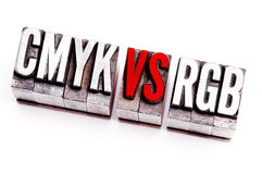 CMYK vs RGB Stock Photography