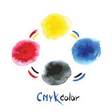 CMYK watercolor,hand painting Stock Images