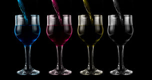 Cmyk wine Royalty Free Stock Photography