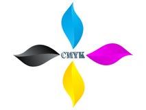 cmykfärgblomma stock illustrationer