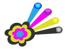 cmykfärger stock illustrationer
