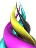 cmykspiral Royaltyfri Bild