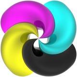 cmykspiral Arkivbild