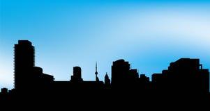 cn公寓房建筑前景风船地平线多伦多塔 免版税库存图片