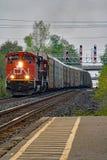 CN在乔治城货车标题西部,安大略 库存图片
