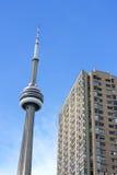CN塔在多伦多,加拿大 库存照片