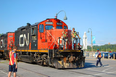CN Diesel-Electric Locomotive Royalty Free Stock Photo