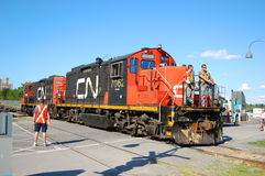 CN Diesel-Electric Locomotive Royalty Free Stock Photography