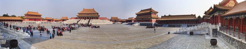CN_Forbidden city entry Panorama stock image
