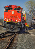 CN Freight Train from Detroit Tunnel Stock Photography